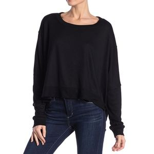 Abound Seamed Dolman Sleeve Cropped Pullover